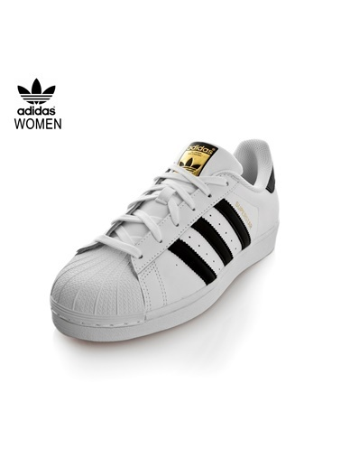 adidas C77124-K Superstar Erkek Spor Ayakkabı Beyaz Beyaz